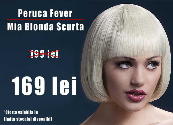DIscount Peruca Fever Mia Blonda