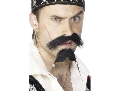 Barba si mustata de pirat