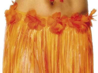 Fusta Hula Hawaii portocalie