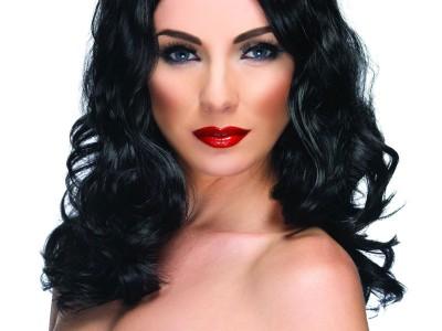 Peruca Glamourous neagra