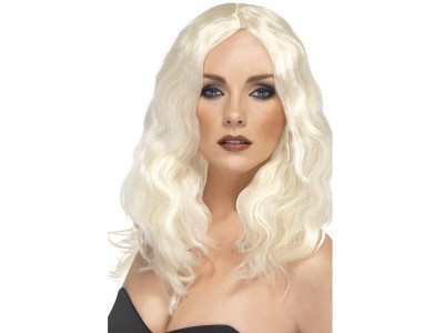 Peruca Superstar blond platinat