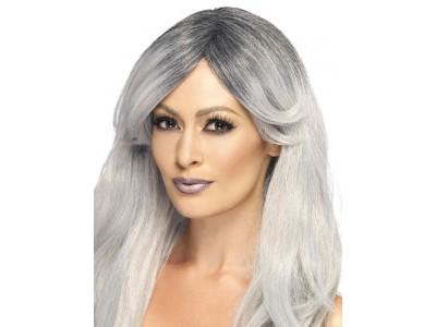 Peruca Glamour Ghostly negru-gri