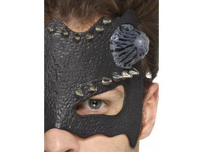 Masca venetiana de diavol cu tinte metalice