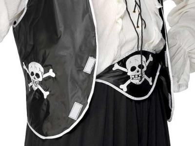 Set de pirat cu boneta, vesta si centura