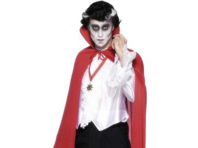 Pelerina rosie de vampir cu guler