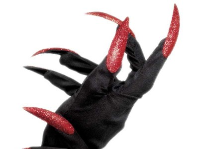 Manusi cu unghii rosii Halloween