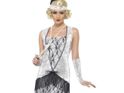 Costum charlestone Silver Flapper