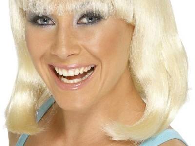 Peruca Cheerleader blond platinat