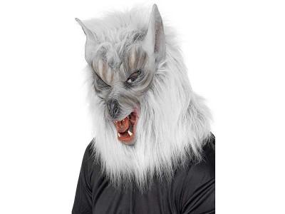 Masca super lup argintiu Halloween