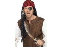 Kit de pirat cu sabie, petic de ochi si cercel
