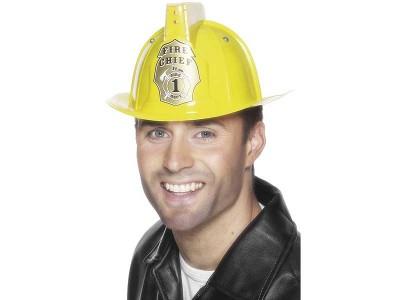 Casca de pompier cu lumini de avertizare