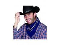 Bandana albastra cowboy