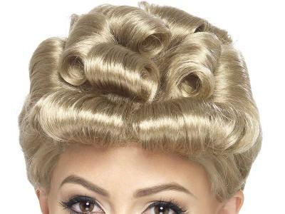 Peruca Vintage 1940 blonda
