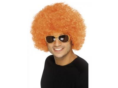 Peruca Funky afro orange