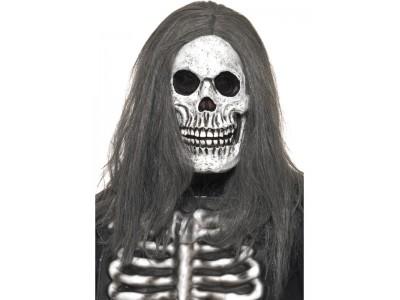 Masca schelet cu par