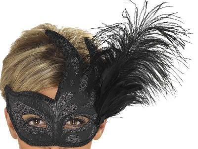 Masca venetiana Columbina neagra