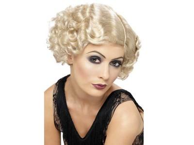 Peruca Flapper blonda anii 1920