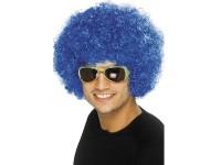 Peruca Funky Afro albastra
