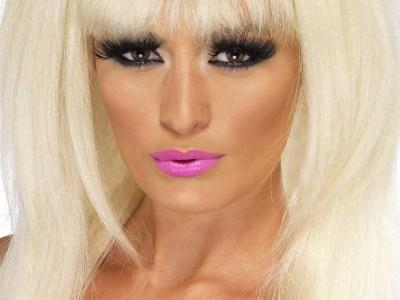 Peruca Lady Gaga blonda cu fundita
