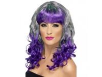 Peruca Divatastic gri-violet