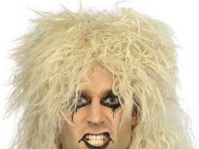 Peruca hard Rocker blonda